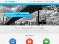 Customize HTML5 Template