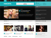 ForceFul- Responsive Magazine Website Template