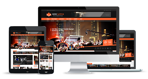 new lotus wordpress theme responsive & retina ready
