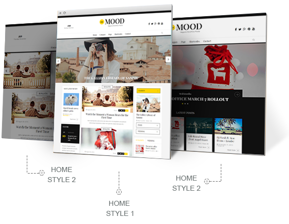 the mood wordpress various home layouts