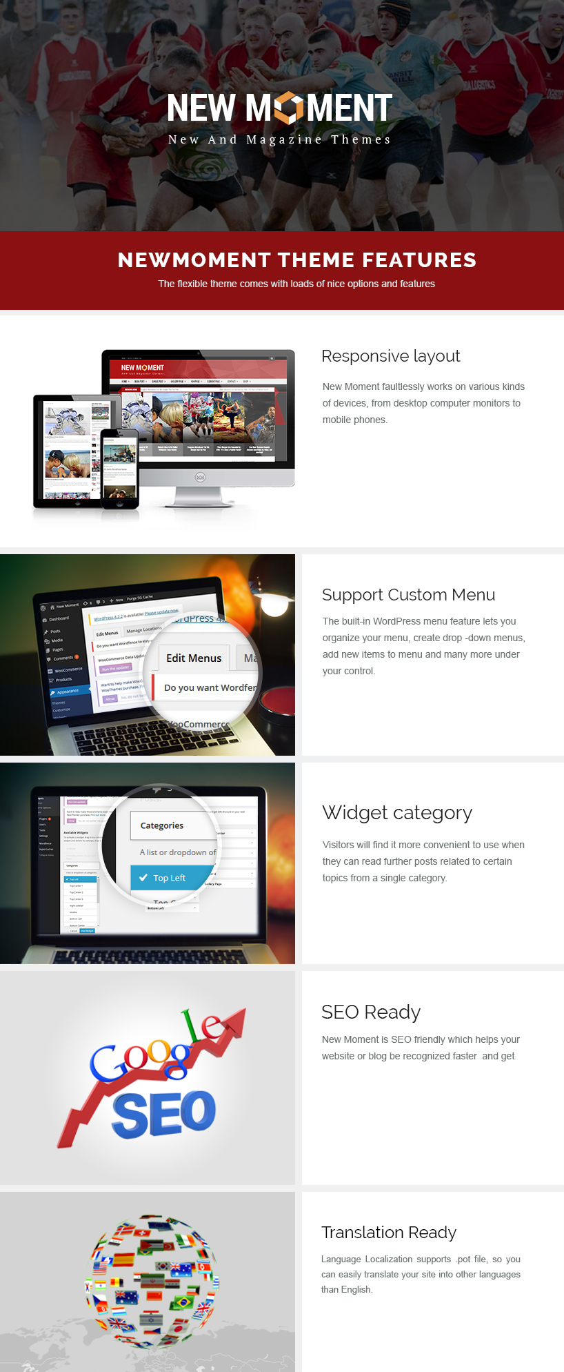 newmoment free wordpress theme