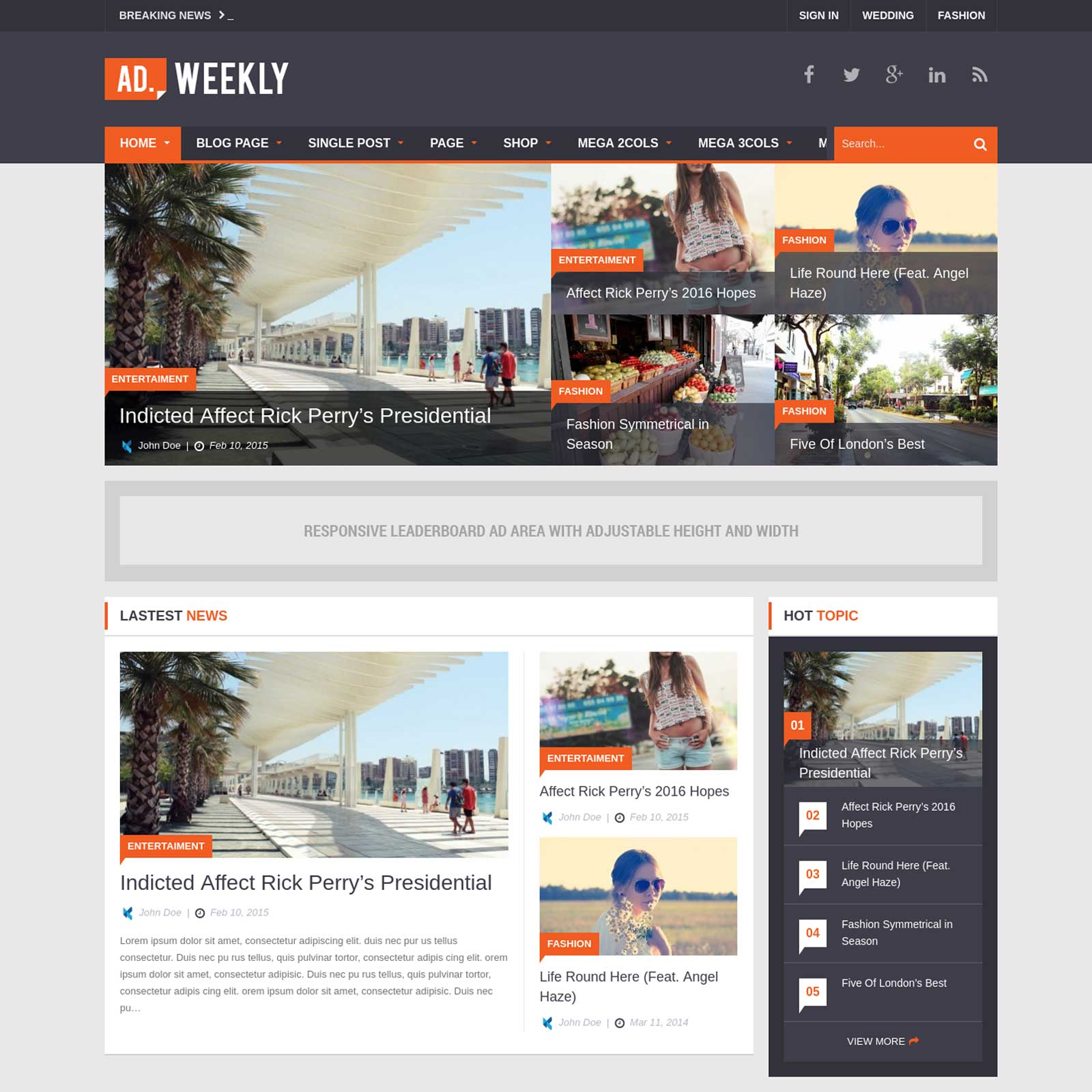AD. Weekly – Professional Magazine WordPress Theme