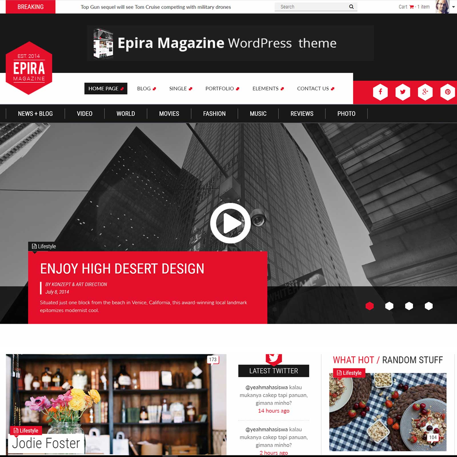 Epira Magazine WordPress theme