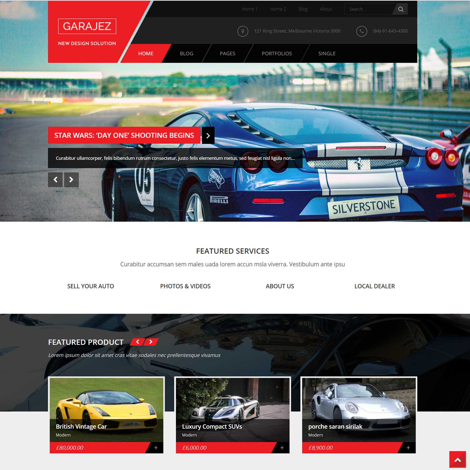 Garajez – Multi Purpose WordPress Theme