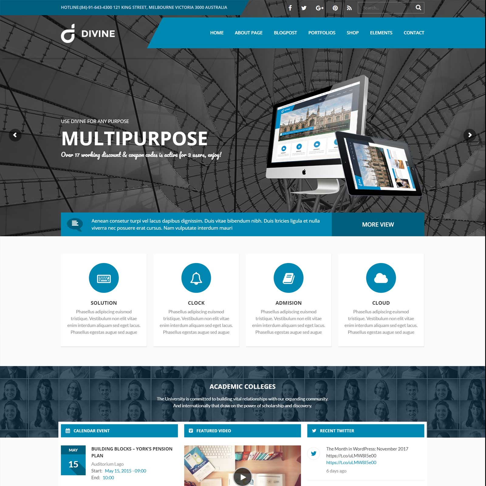 Divine – Professional Business WordPress Theme