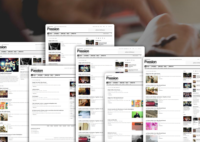 passion wordpress theme category