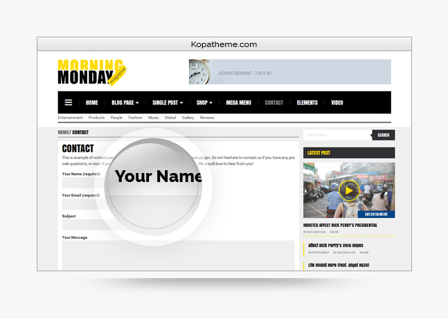 monday morning wordpress theme contact form 7