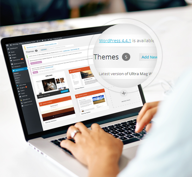 ultramag wordpress theme update notification