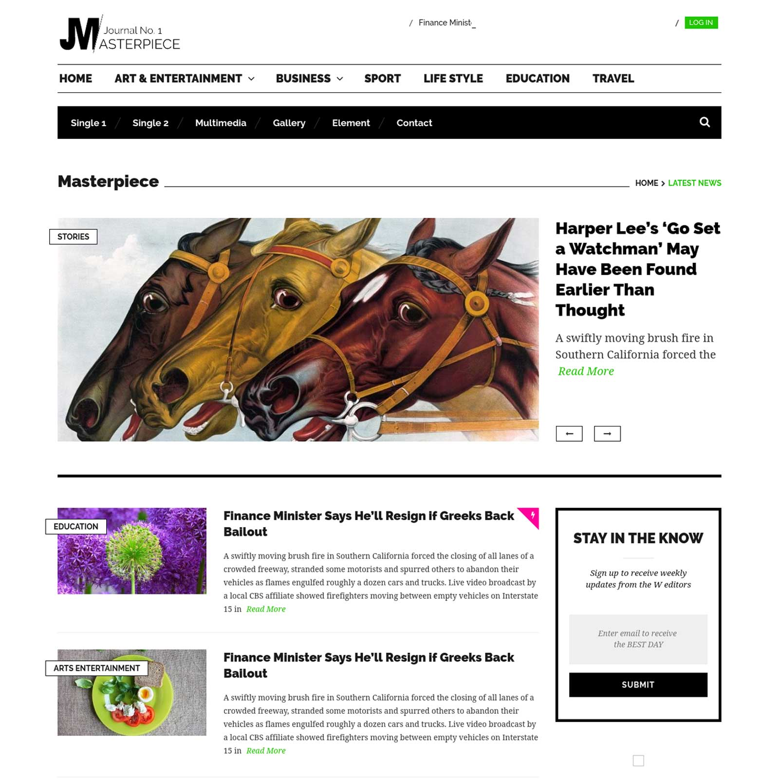 Masterpiece Magazine WordPress Theme