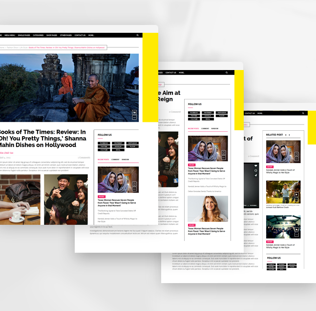friday news wordpress theme single pages