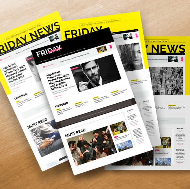 friday news wordpress theme home layouts
