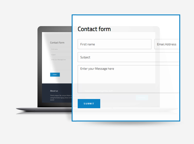 nictitate wordpress free theme contact form