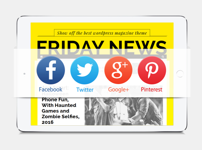 friday news wordpress theme social sharing