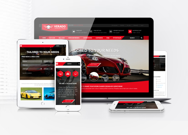 verado car dealership theme responsive design