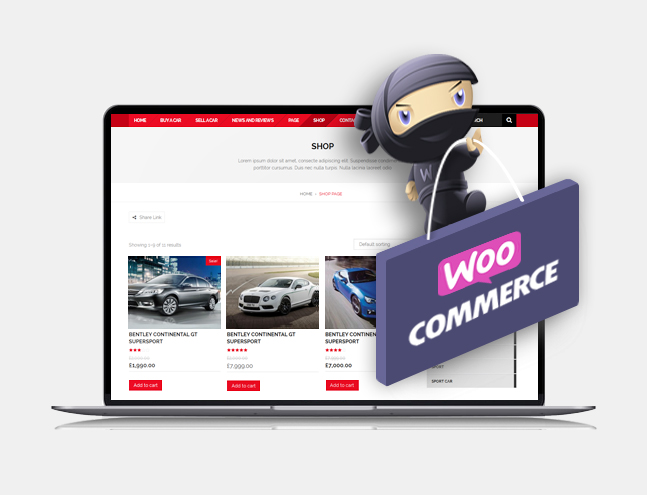 verado car dealership theme woocommerce integration