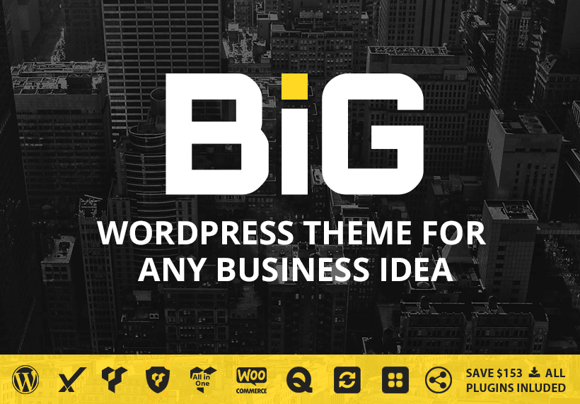 01 - B.I.G - WordPress Theme for Any Business Idea