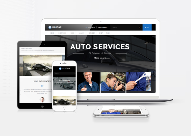 luxicar wordpress free theme responsive