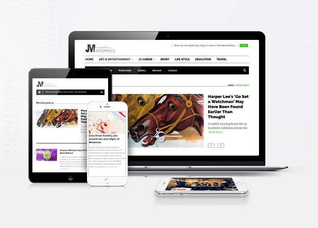masterpiece wordpress free theme responsive
