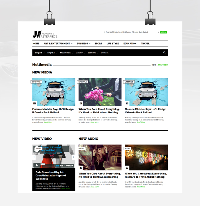 masterpiece wordpress free multimedia Page